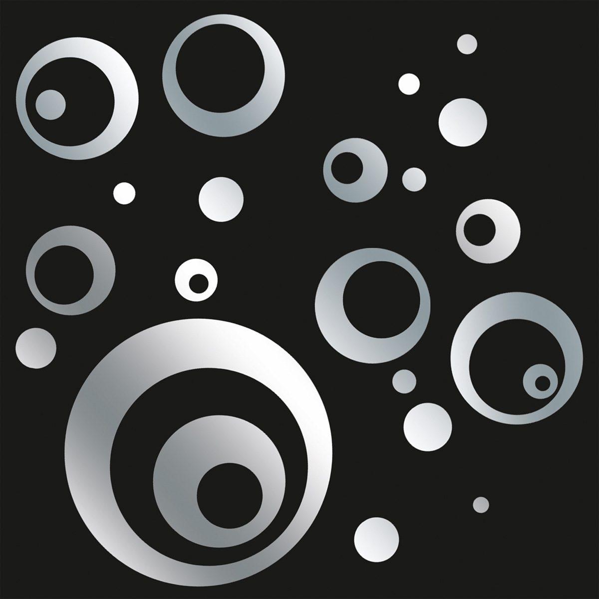 EUROGRAPHICS Spiegelnde Wandaufkleber »Mirrorcircle«, 50/70 cm