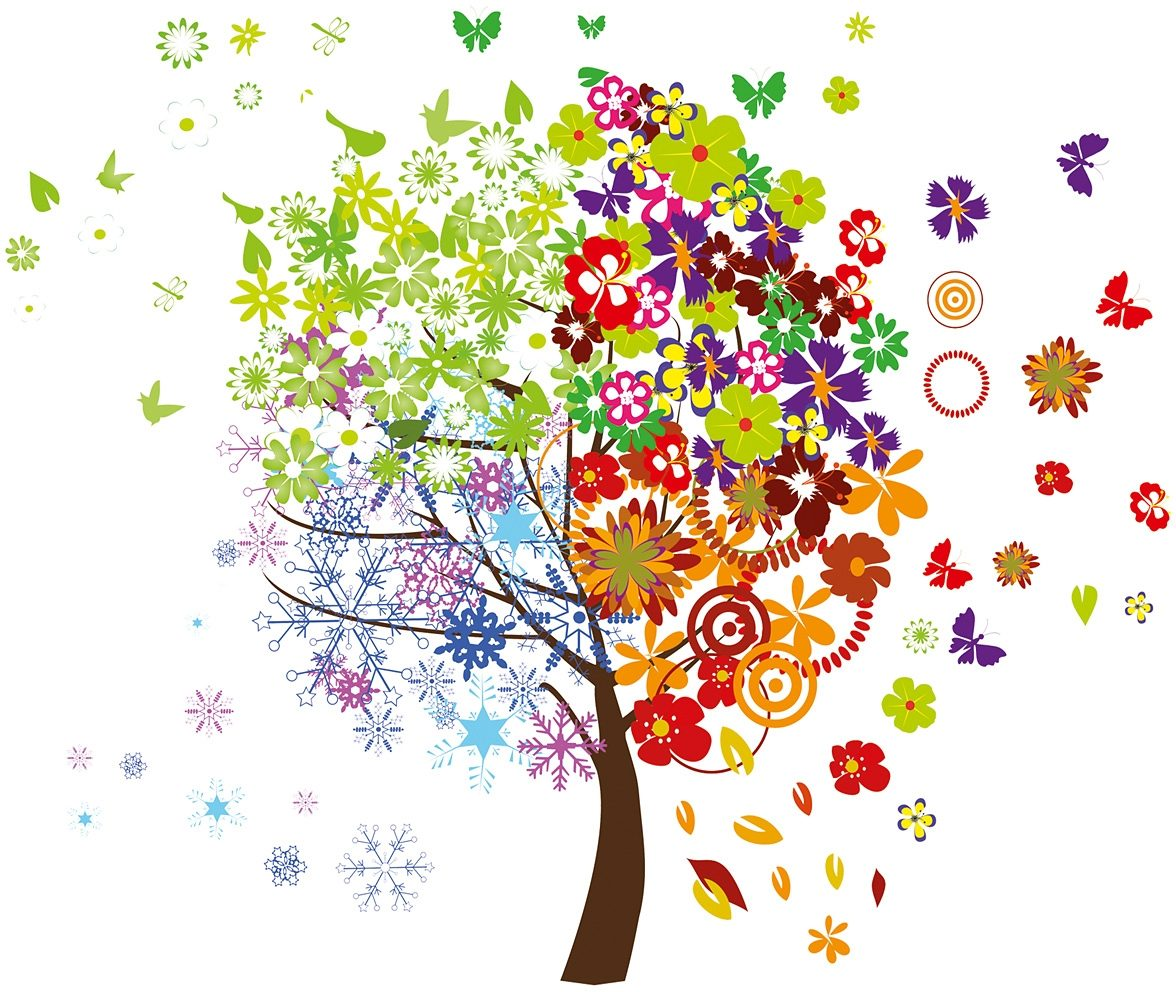 Wandtattoo, Eurographics, »Four Seasons Tree«, 50/70 cm