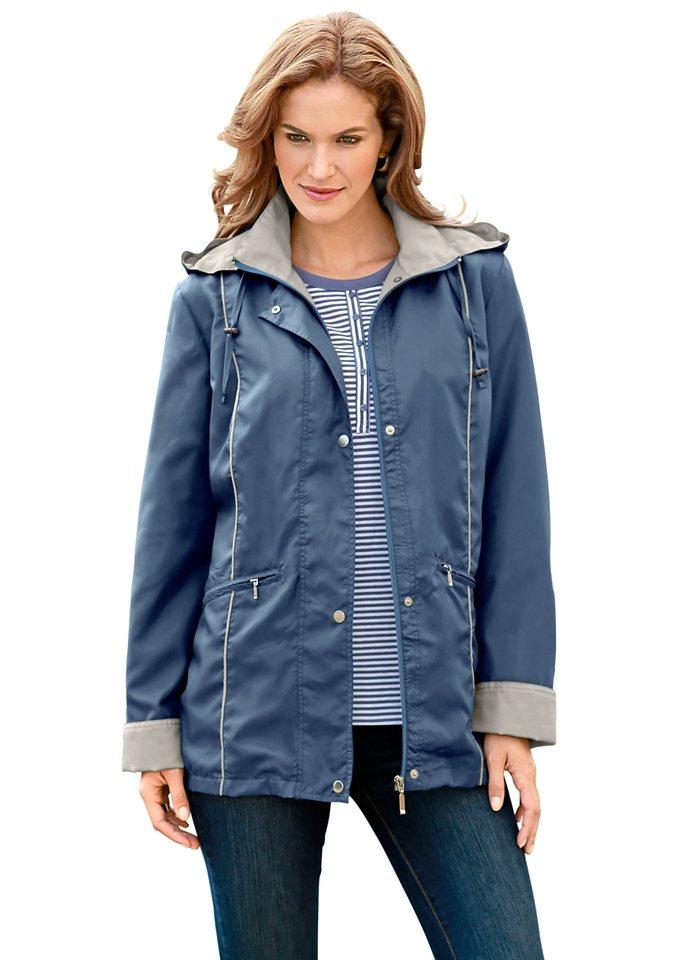 Jacke in Microfaser-Qualität in bleu
