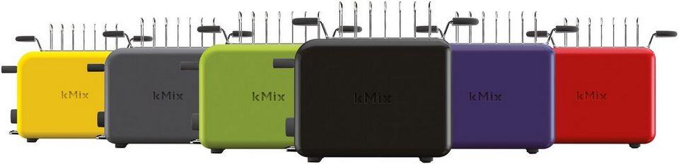 Kenwood Toaster »kMix TTM020BK«, für 2 Scheiben, schwarz in braun