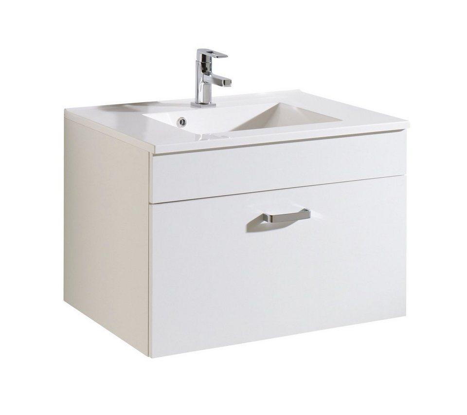 Held Möbel Waschtisch »Kapstadt«, Breite 80 cm, (2-tlg.) in weiß