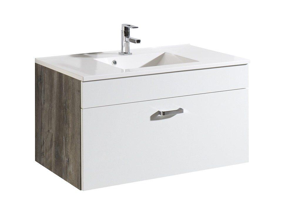 Waschtisch »Kapstadt«, Breite 100 cm, (2-tlg.) in eichefarben/weiß