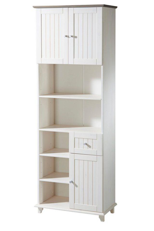 Hochschrank »Venezia«, Breite 63 cm in weiß/grau