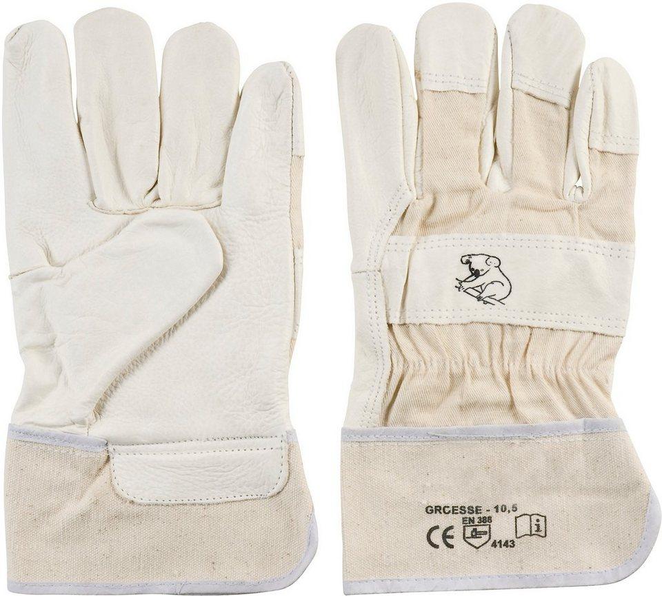 Handschuhe (2 Paar) in natur