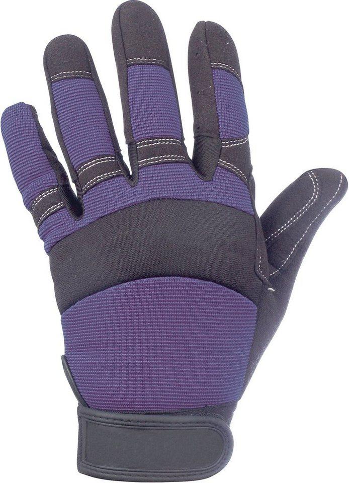 Handschuhe in blau/schwarz