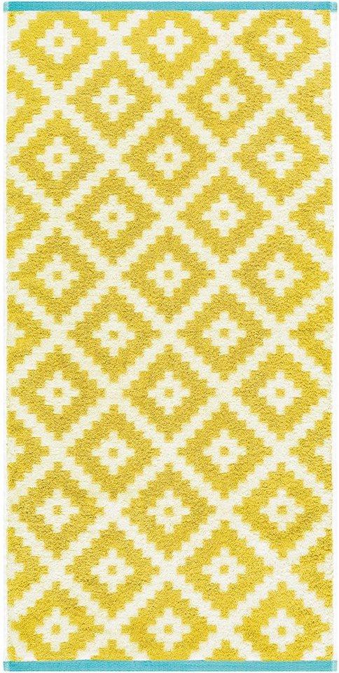 Badetuch, Egeria, »Ethno«, mit Inkamuster in gelb