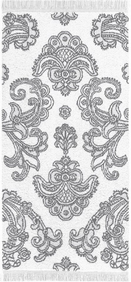 Handtücher, Egeria, »Lisbeth«, mit Ornamenten in grau