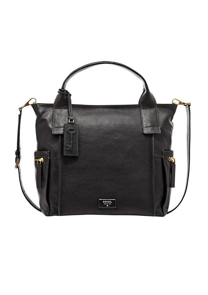 Fossil Handtasche »EMERSON SATCHEL« aus Leder in black