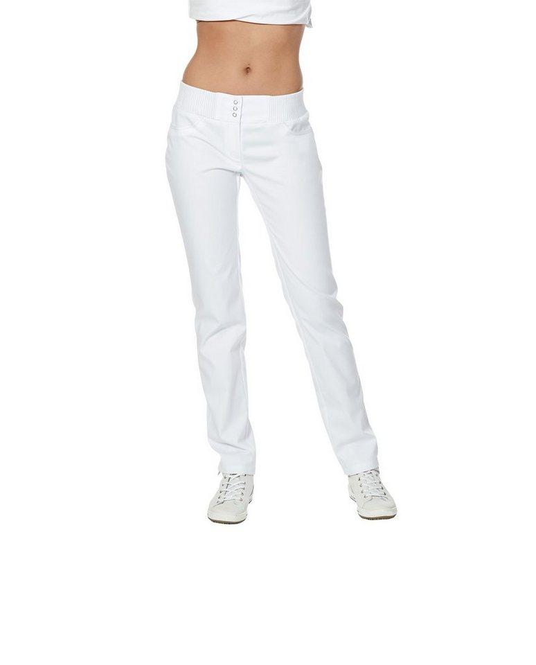 Damen Pflegehose regular fit in weiß