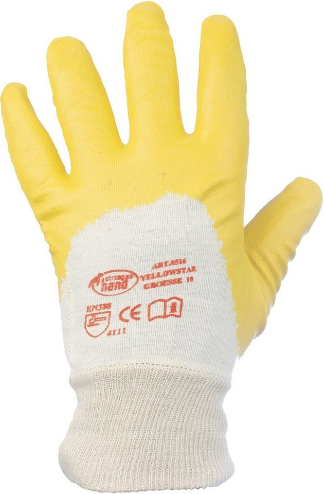 Handschuhe in gelb