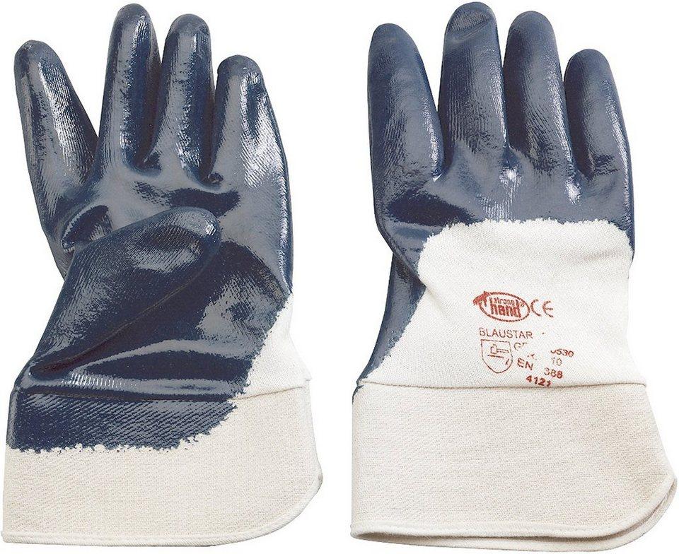 Handschuhe in blau/weiß