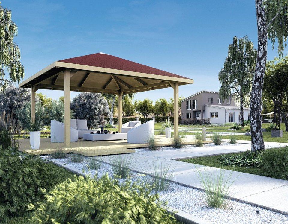 Weka Pavillon »Paradies 3« in braun