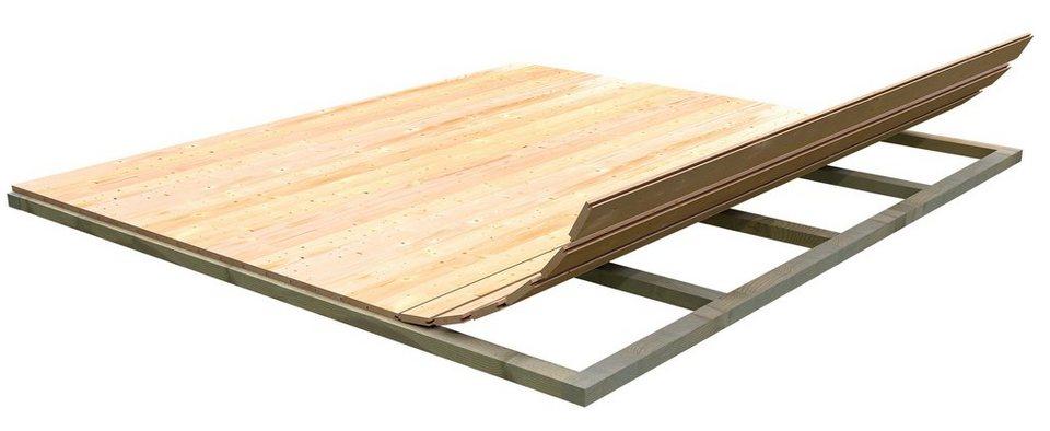 Fußboden für Gartenhäuser, BxT: 230x230 cm in natur