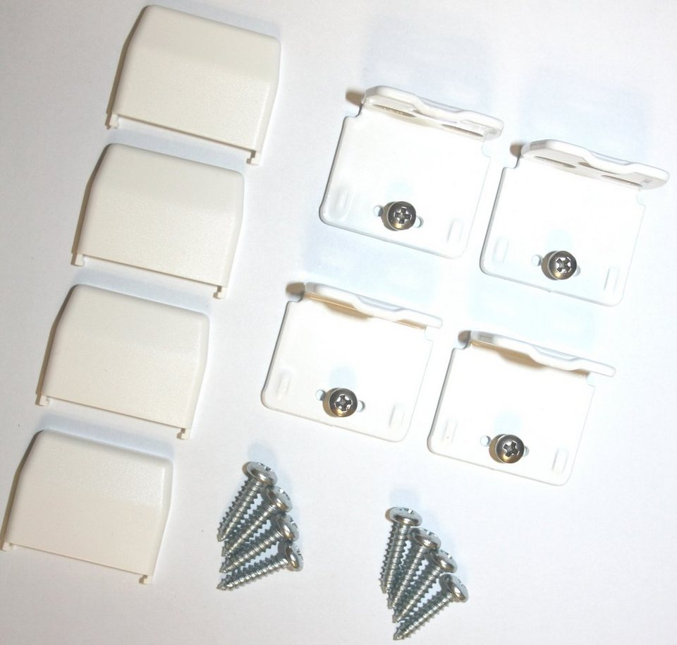 Montagezubehör für die Rahmen/-Wandmontage von Plissees in weiß