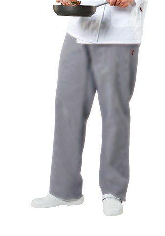 Herren-Kochhose aus 100% Baumwolle in grau