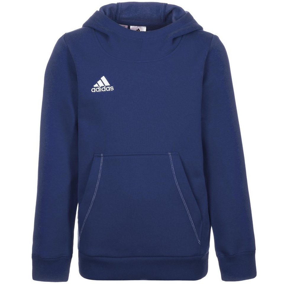 adidas Performance Core 15 Trainingskapuzenpullover Kinder in dunkelblau / weiß