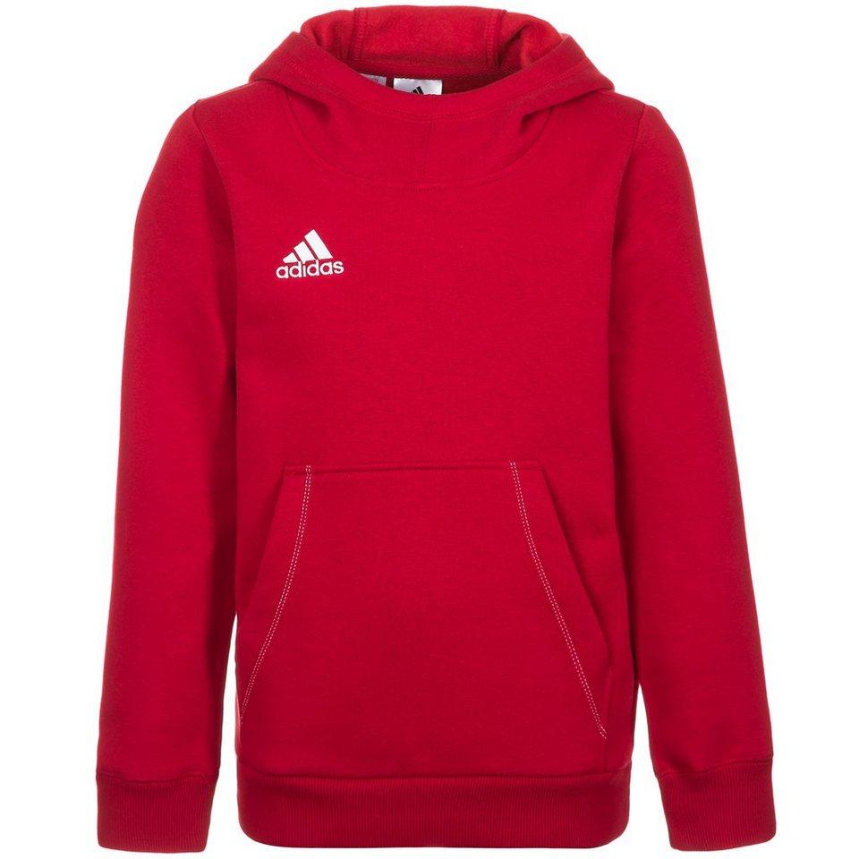 adidas Performance Core 15 Trainingskapuzenpullover Kinder in rot / weiß