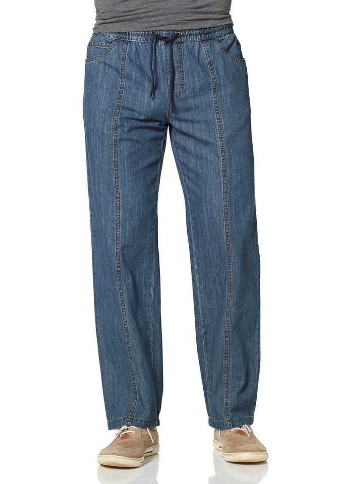 Man's World Schlupfjeans in blue-stone