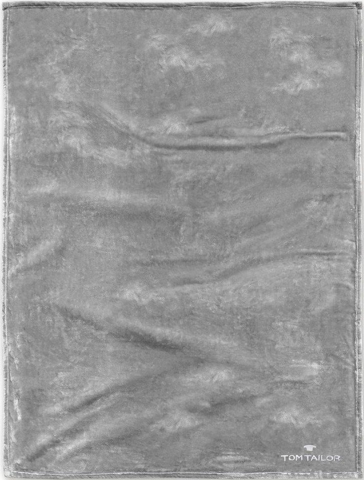 Wohndecke, Tom Tailor, »Angorina«, unifarbenes Design in silber