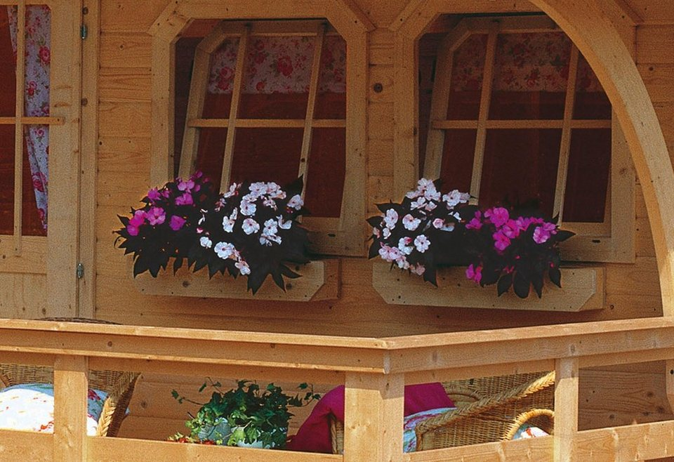 Blumenkasten, inkl. Kunstoffeinsatz in natur