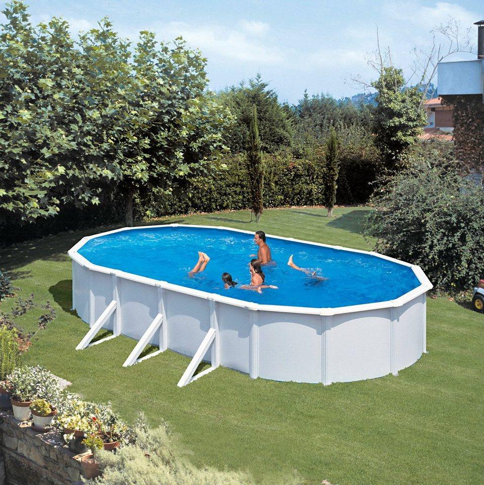 Summer fun ovalpool lxbxh 375x730x120 cm 9 tlg otto for Otto pool oval