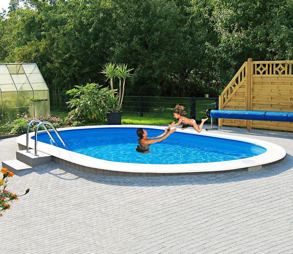 Mypool ovalpool standard lxbxh 490x300x120 cm otto for Garten pool hagebau