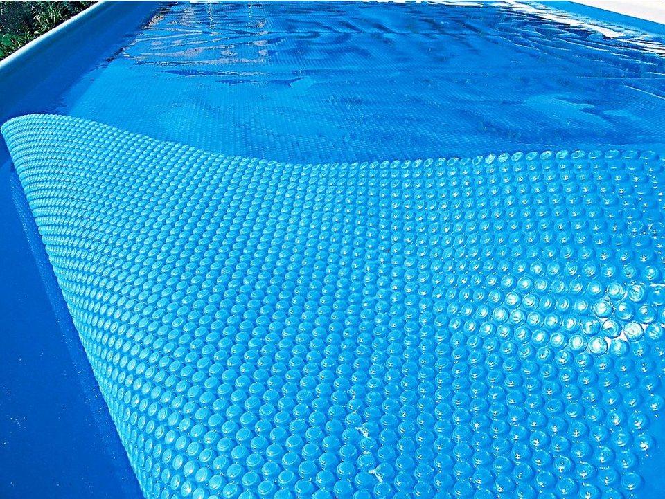 Solarabdeckplane für Ovalformbecken in blau
