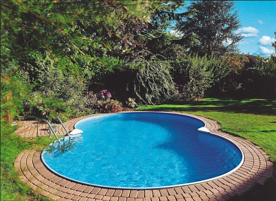 Clear Pool Set: Achtformpool »Mallorca« (6-tlg.) in weiß