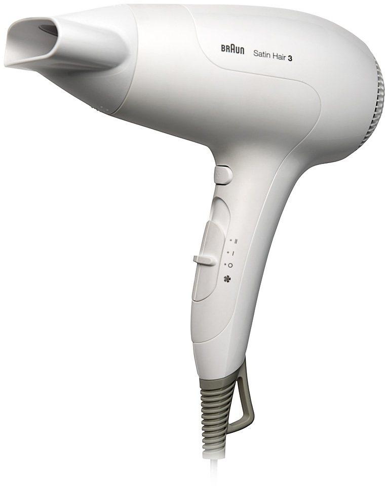 Braun Haartrockner HD380, Mit Ionentechnologie in weiß