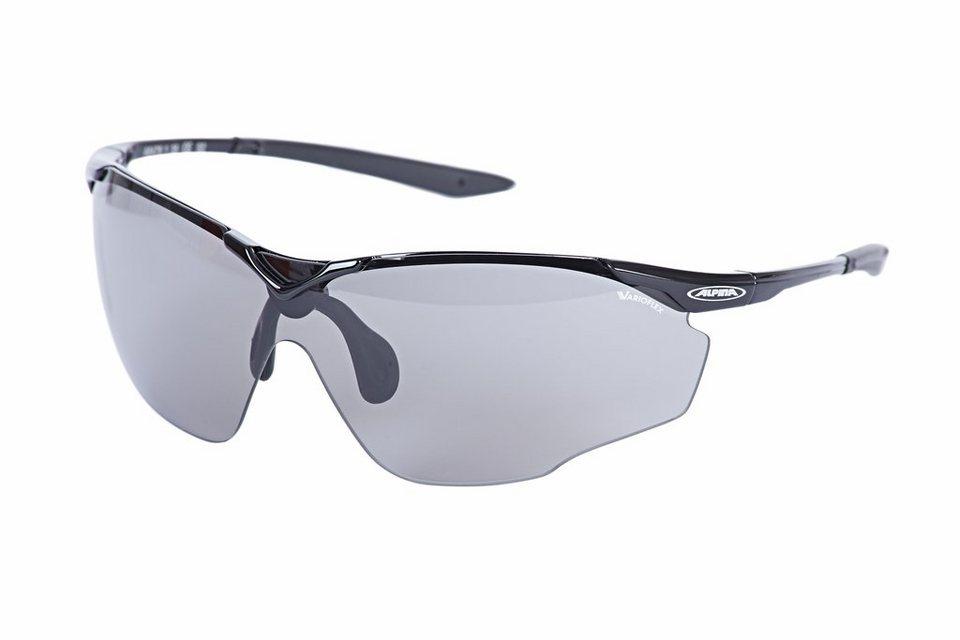 Alpina Radsportbrille »Splinter Shield VL Brille black/black« in schwarz