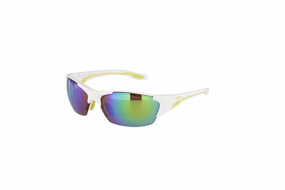 UVEX Radsportbrille »Blaze lll Brille« in weiß