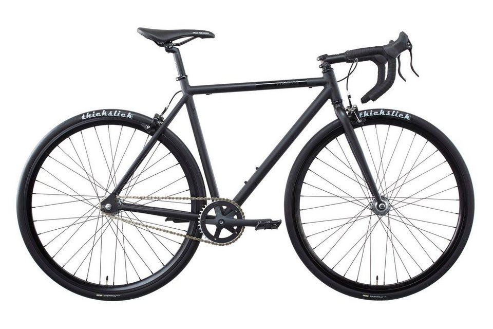 FIXIE Inc. Fahrrad »Floater twospeed RACE black« in schwarz