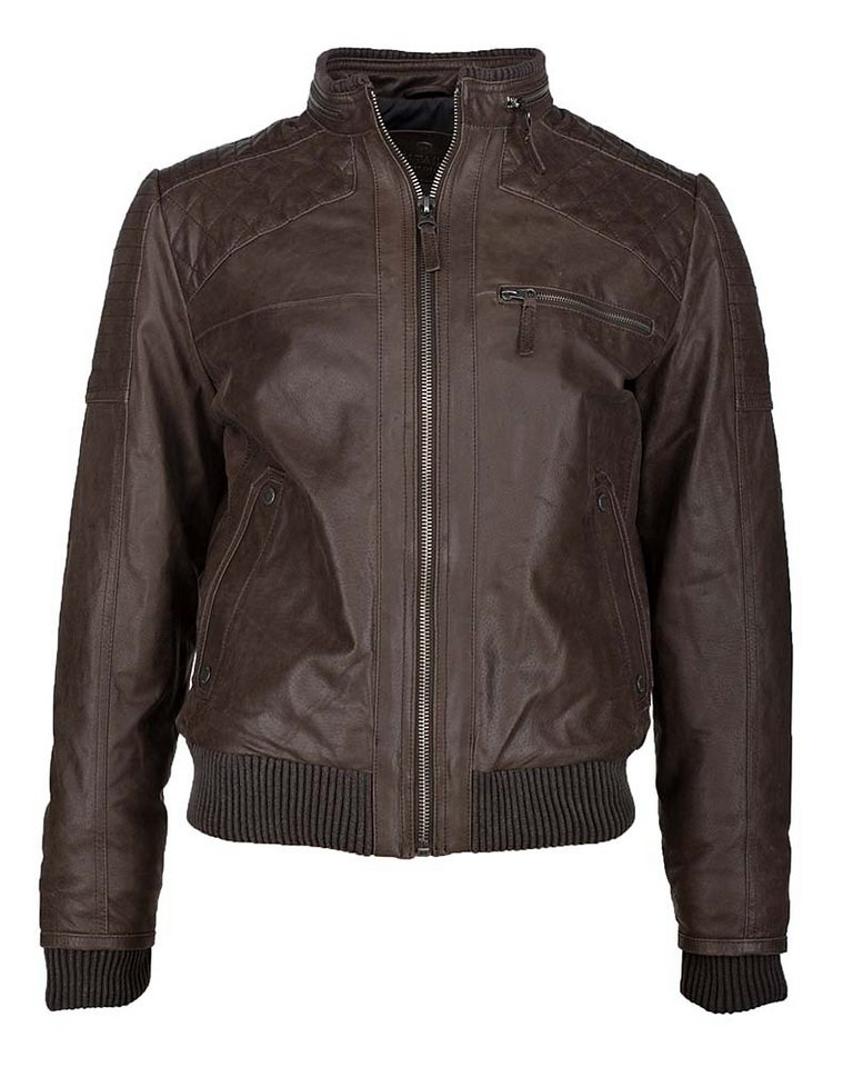 TOM TAILOR Lederblouson, Herren »14-24« in dark brown
