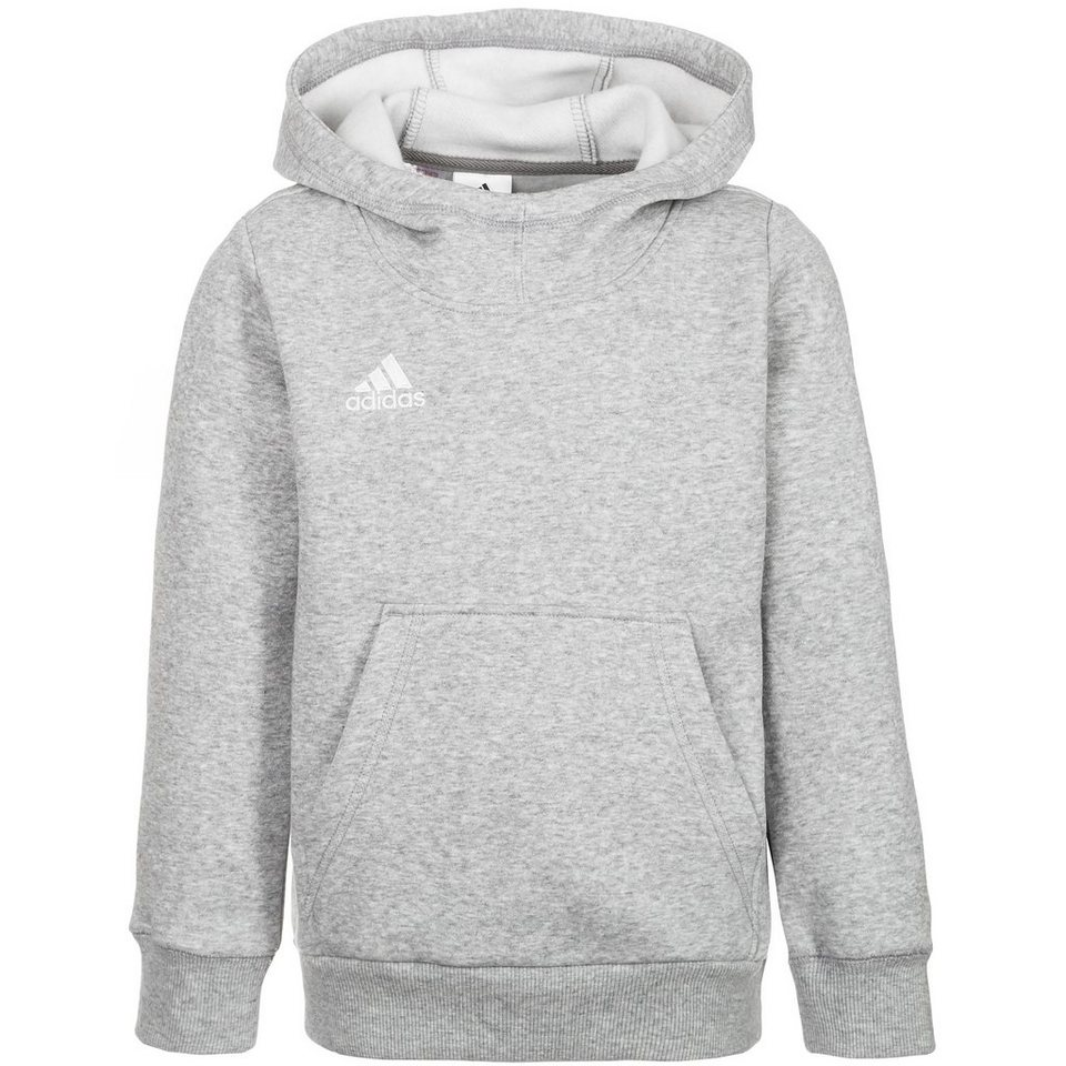 adidas Performance Core 15 Trainingskapuzenpullover Kinder in grau / weiß