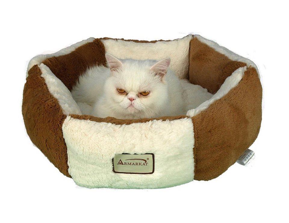 Hundebett und Katzenbett in beige/braun