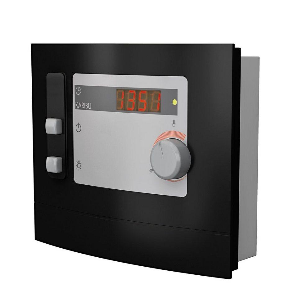 Sauna-Steuergerät »Modern Finnisch«, für Finnische Saunaöfen,extern, 9 kW in grau