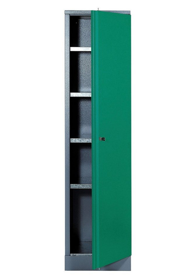 Hochschrank »1 Tür, 4 Einlegeböden, in grün« in grün