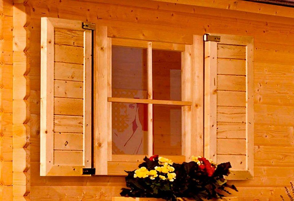 Fenster, für 40 mm Karibu Häuser in natur