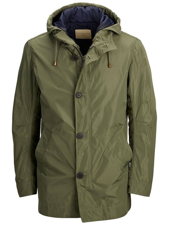 Selected 2-in-1 - Nylon Parka in Laurel Wreath