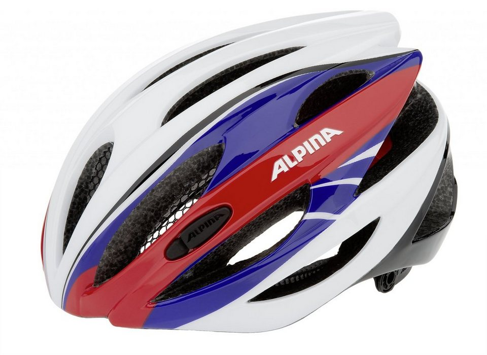 Alpina Fahrradhelm »Cybric Helm white-blue-red« in weiß