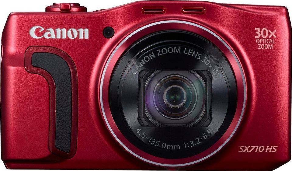 Canon PowerShot SX710 HS Kompakt Kamera, 20,3 Megapixel, 30x opt. Zoom, 7,5 cm (3 Zoll) Display in rot