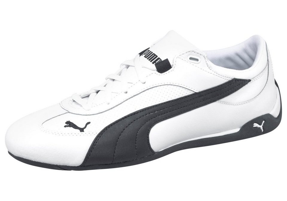 PUMA Fast Cat Leather Sneaker in Weiß-Schwarz