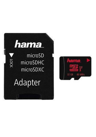 HAMA Atminties kortelė microSDHC 32GB UHS t...