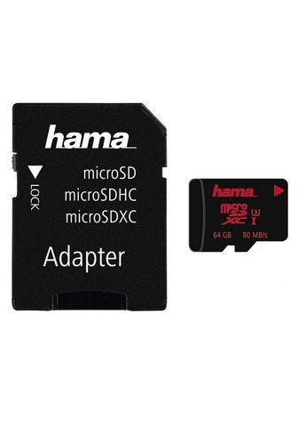 HAMA MicroSDXC 64 GB UHS treniruoklis Class...