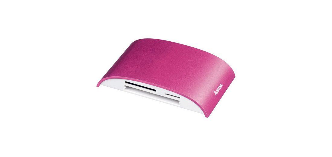 Hama USB-3.0-Multikartenleser Pro, SD/microSD/CF/MS/xD, Alu, Pink