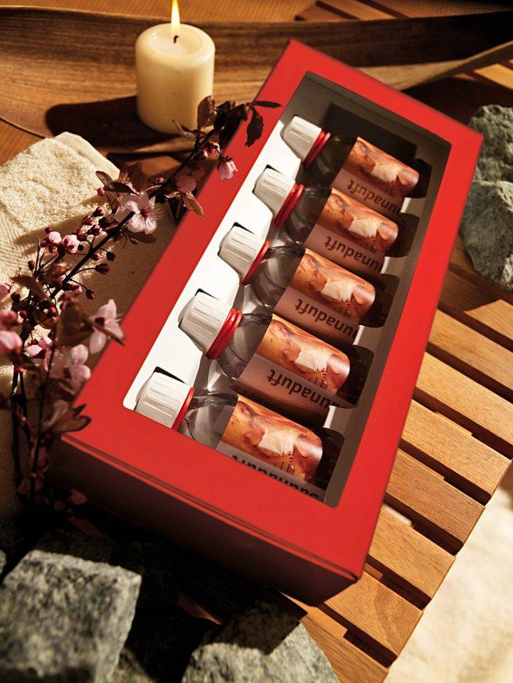 Aufgusskonzentrat »Geschenkpaket«, 5 Düfte á 100 ml in rot