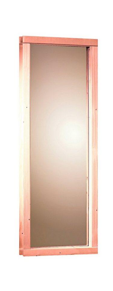 Saunafenster, für 68 mm Sauna, BxH: 43x102 cm in natur