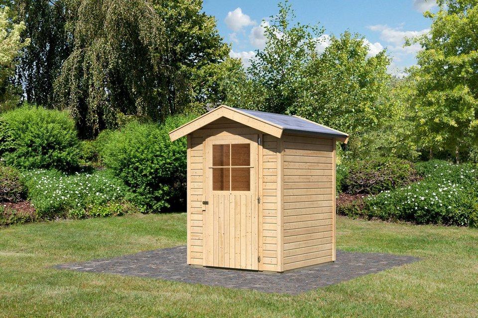 karibu gartenhaus tostedt 0 b t h 152 155 220 cm in 4 farben online kaufen otto. Black Bedroom Furniture Sets. Home Design Ideas