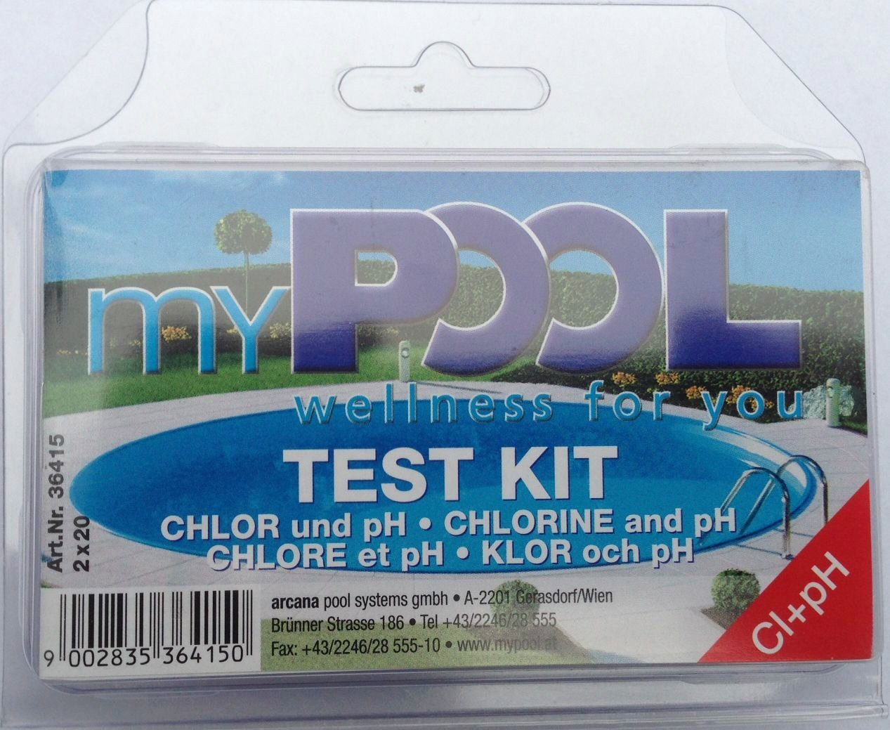 Mypool Wasserpflege »Chlor - & pH-Testgerät«