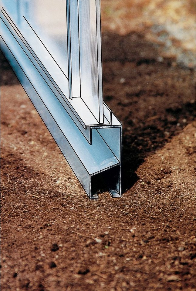 Fundamentrahmen »Allplanta® 4«, BxT: 270x606 cm, aluminiumfarben in silberfarben